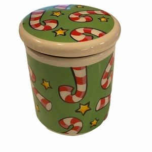 Candy Cane Star Holiday Canister